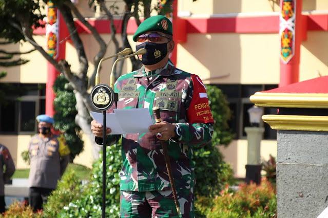 Jelang Libur Panjang TNI-Polri di Kalteng Gelar Apel Kesiapan Pengamanan