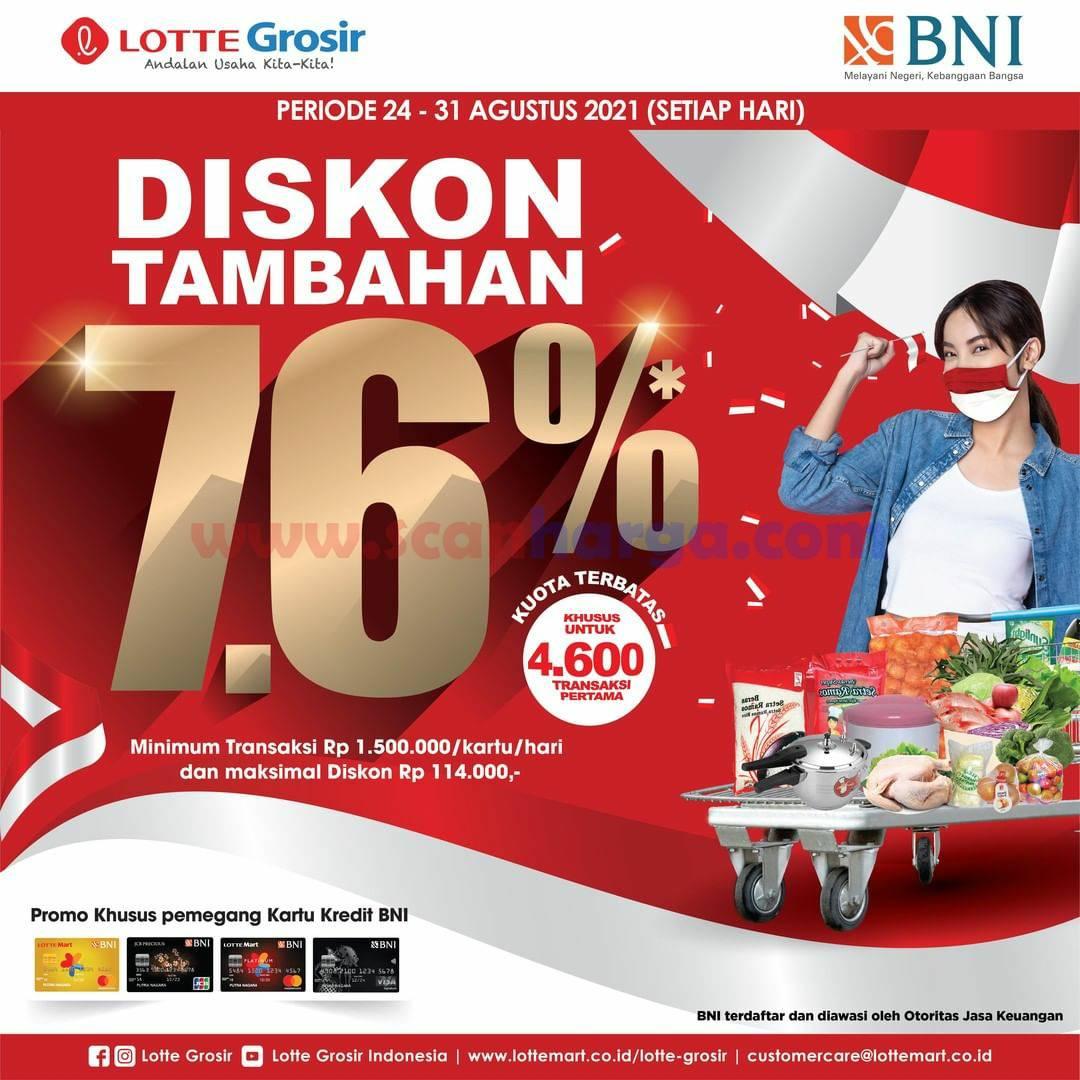 Promo LOTTE Grosir DISKON Tambahan 7.6% dengan Kartu Kredit BNI