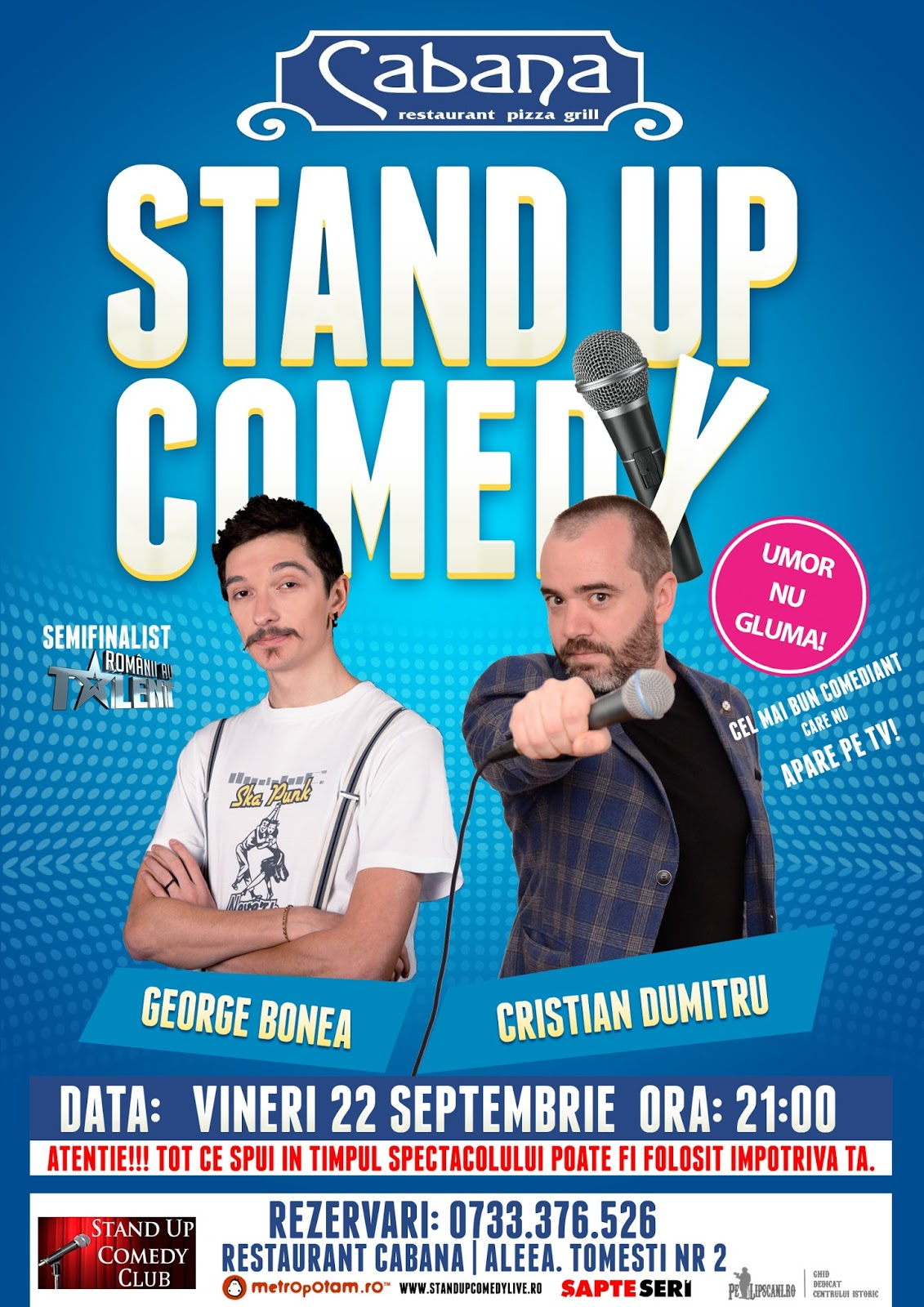 Stand-Up Comedy Bucuresti Vineri 22 Septembrie