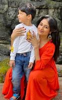 paridhi sharma with here son