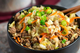 Egg Roll in a Bowl - low carb, gluten free, AIP option #dinnerrecipe #food #amazingrecipe #easyrecipe