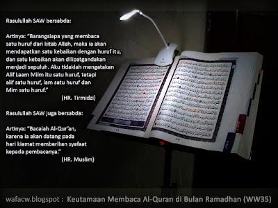 Keutamaan Membaca Al Quran di Bulan Ramadhan