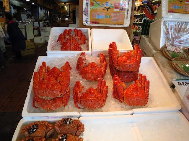 Crab feast at Sapporo Nijo morning market Hokkaido. Tokyo Consult. TokyoConsult.