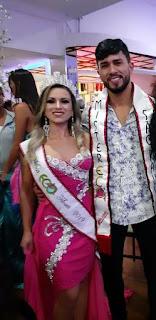Mister e Americana e Miss brasileira recebe faixa de mister e Miss ecológico São Paulo 2019 na feijoada da fama.