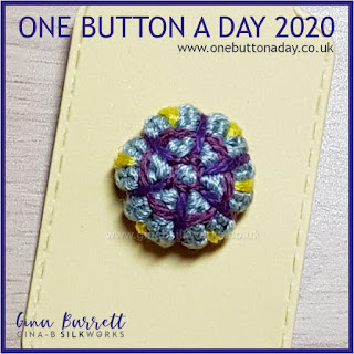 Day 247 : Cushioned - One Button a Day 2020 by Gina Barrett