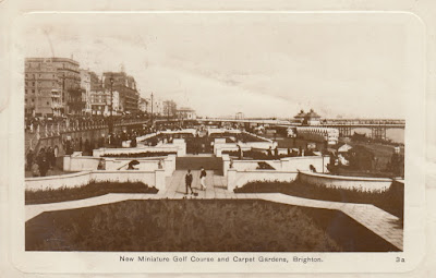 New Miniature Golf Course and Carpet Gardens, Brighton. Postally used 27 May 1928