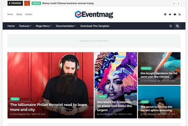 15 Best Free Blogger Templates with Dark mode Feature