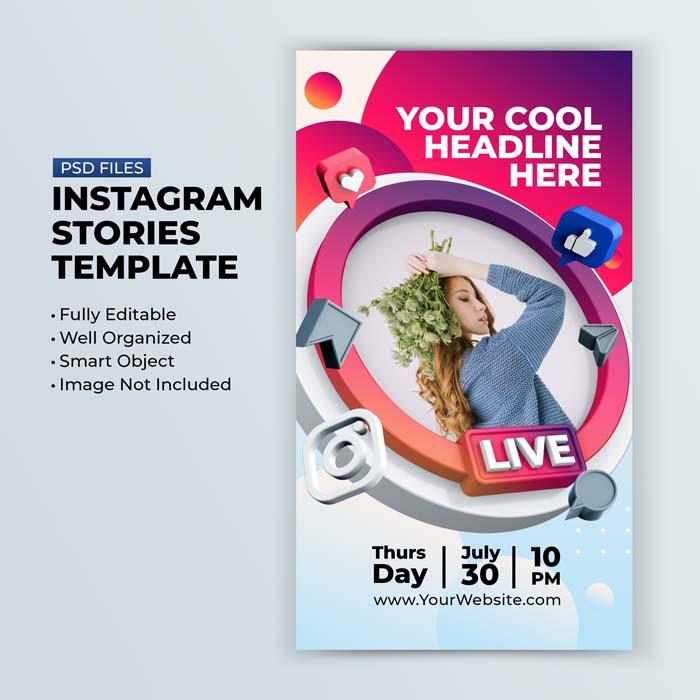 Live Streaming Workshop Instagram Post Social Media Post Template