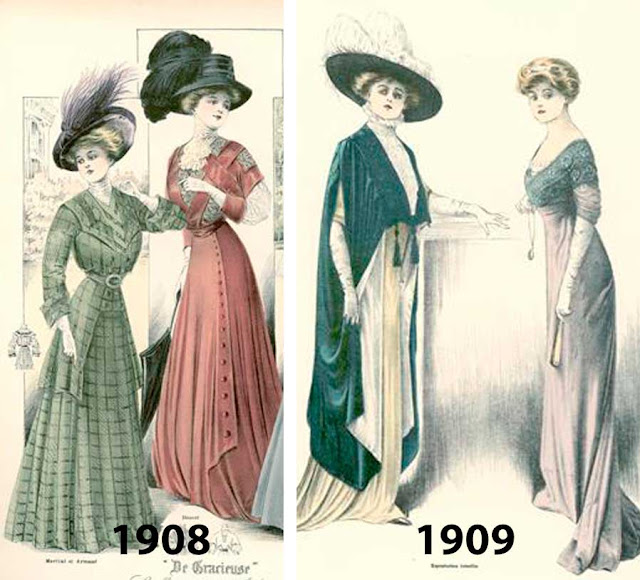 Moda em 1910 revistas
