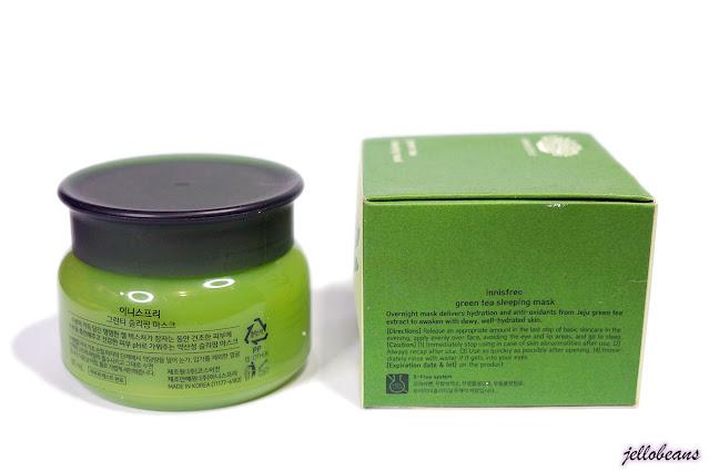 Innisfree Green Tea Sleeping Mask
