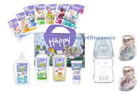 Vinci gratis Valigetta con pannolini Happy, prodotti linea detergenza e succhietti e Biberon LOVI