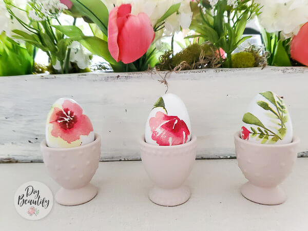 floral craft eggs
