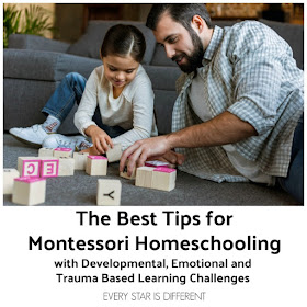 The Best Tips for Montessori Homeschooling Children with Developmental, Emotional, and Trauma Based Learning Challenges