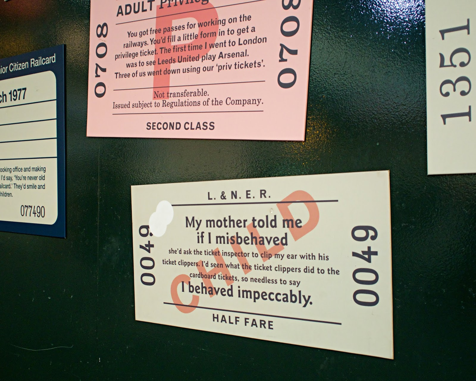 train ticket anecdotes