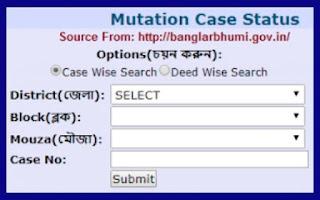 Banglarnhumi West Bengal Land Records Registration Process