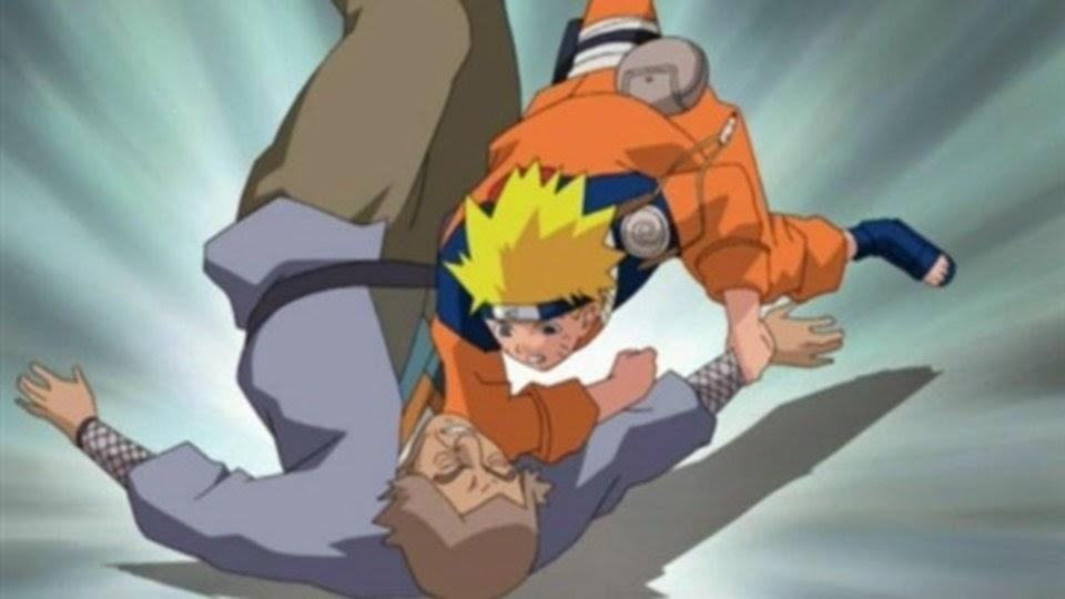 Naruto golpea a Unkai