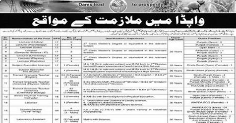 Latest 300+ Seats  Pakistan Water & Power Development Authority (WAPDA) Jobs 2020 Apply Now