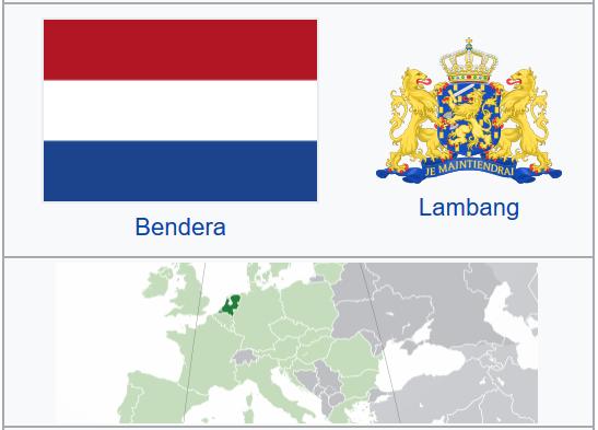 Negara Belanda (Letak, Luas, Iklim, Keadaan Alam, Flora Fauna, Pemerintahan, Perekonomian, dll)