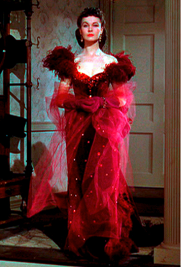 The costumes of gone with wind scarlett o hara s red