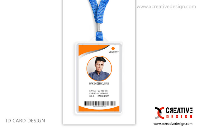 free download Employee Id Card Design Vertical