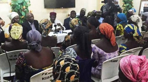 Released Chibok Schoolgirls Arrive Abuja
