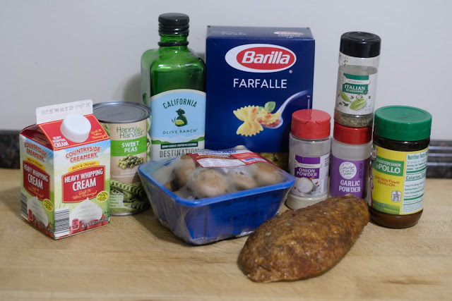The ingredients needed to make the Crockpot Turkey Tetrazinni.