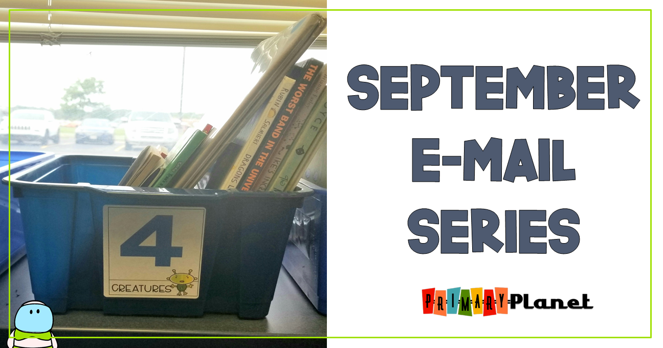 Image of a box of books with September E-mail Series written on the side.