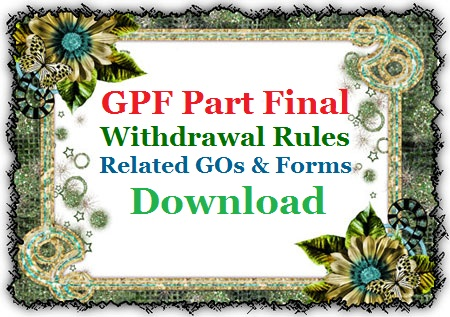 Government/ ZP Teachers Employees who have appointed under Old Pension Scheme hold ZP/Govt GPF accounts and save some amount from their Salary every month. As per their need, they can withdraw from GPF Account and it is need not to pay back. Generally GPF Part Final Withdraw allowed to the Employees and Teachers for the expenditure on Education, Medical expenses, Home Purchase, Commercial Land Purchase and Home construction. Here ZP GPF Account holders may Download their GPF Part Final Related GOs  GO MS No 98 dated  19.06.1992,  GO MS No 42