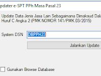 Cara Update Patch e-SPT PPh 23 V.1.0.1 Sesuai  PMK 141