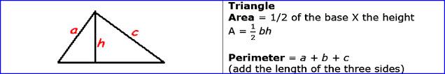 Area of triangle & Perimeter of triangle
