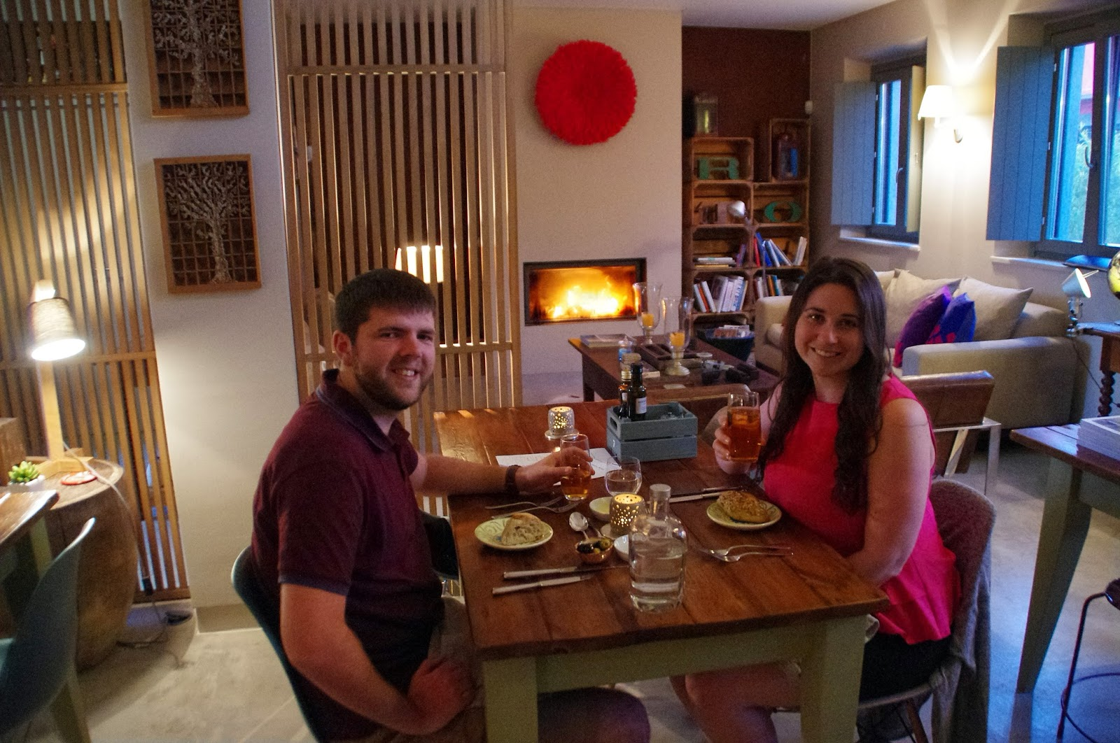 Simone and Dan at Fazenda Nova Country House Dinner