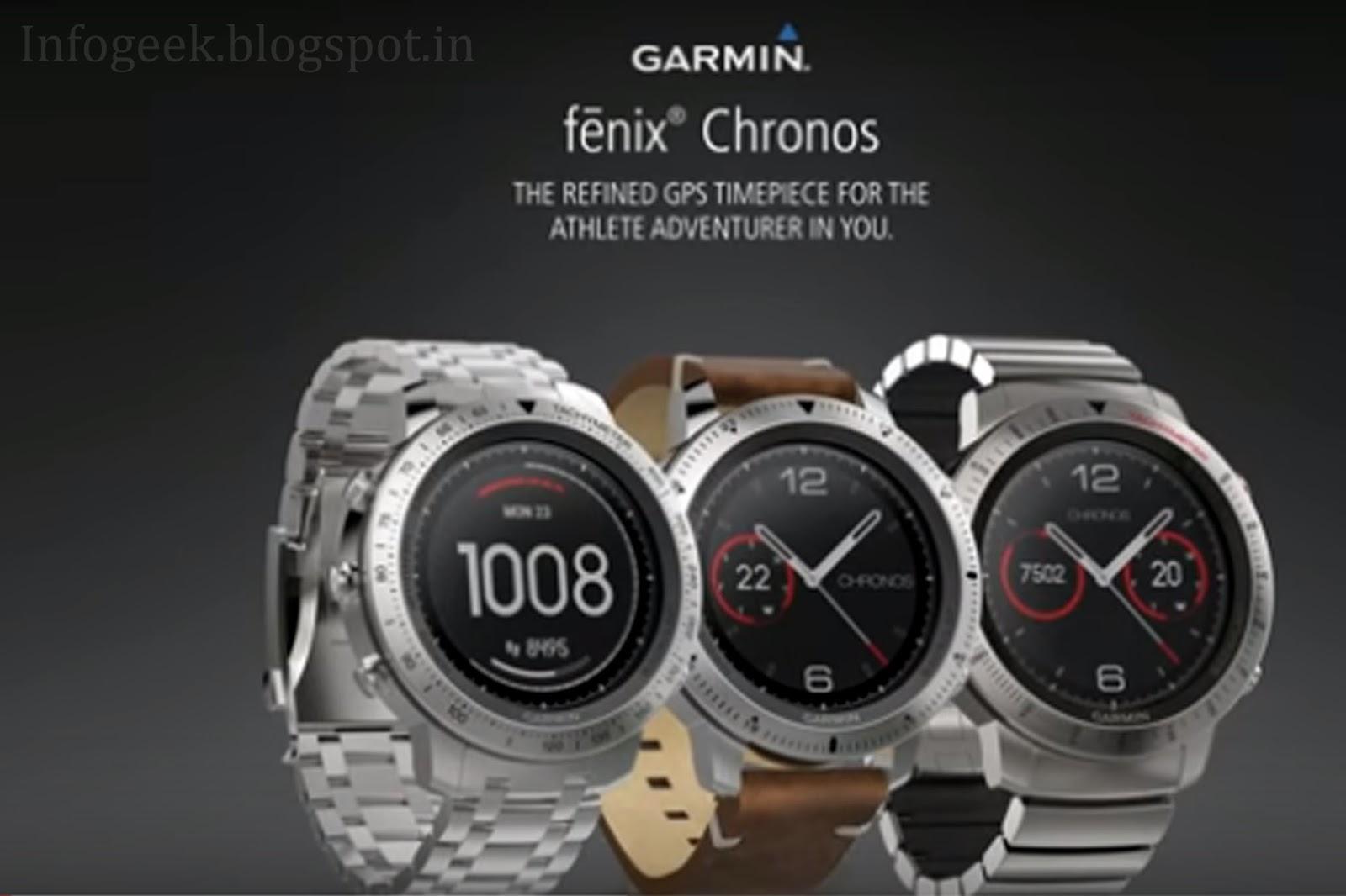e3f323fa715 Garmin Fenix Chronos GPS sport watch for the executive adventurer