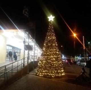 Φωταγωγήθηκε το χριστουγεννιάτικο δέντρο της αγοράς