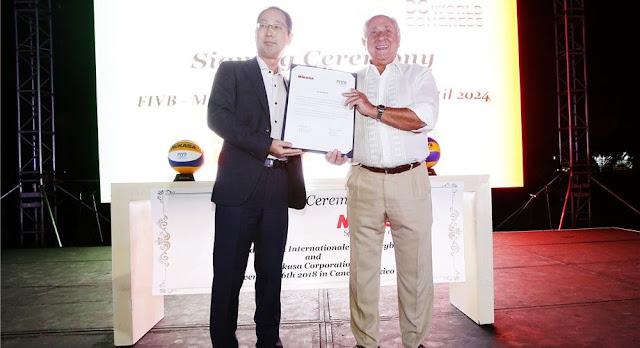 Tập đoàn Mikasa ký kết hợp tác với FIVB đến năm 2024