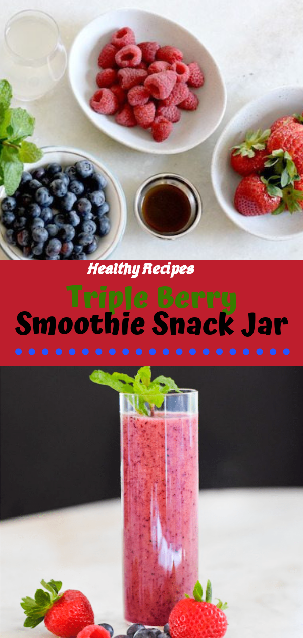 Healthy Recipes | Triple Berry Smoothie Snack Jar, Healthy Recipes For Weight Loss, Healthy Recipes Easy, Healthy Recipes Dinner, Healthy Recipes Pasta, Healthy Recipes On A Budget, Healthy Recipes Breakfast, Healthy Recipes For Picky Eaters, Healthy Recipes Desserts, Healthy Recipes Clean, Healthy Recipes Snacks, Healthy Recipes Low Carb, Healthy Recipes Meal Prep, Healthy Recipes Vegetarian, Healthy Recipes Lunch, Healthy Recipes For Kids, Healthy Recipes Crock Pot, Healthy Recipes Videos, Healthy Recipes Weightloss, Healthy Recipes Chicken, Healthy Recipes Heart, Healthy Recipes For One, Healthy Recipes For Diabetics, Healthy Recipes Smoothies, Healthy Recipes For Two, Healthy Recipes Simple, Healthy Recipes For Teens, Healthy Recipes Protein, Healthy Recipes Vegan, Healthy Recipes For Family, Healthy Recipes Salad, Healthy Recipes Cheap, Healthy Recipes Shrimp, Healthy Recipes Paleo, Healthy Recipes Delicious, Healthy Recipes Gluten Free, Healthy Recipes Keto, Healthy Recipes Soup, Healthy Recipes Asian, Healthy Recipes On The Go, Healthy Recipes Fast, Healthy Recipes Ground Turkey, Healthy Recipes Rice, Healthy Recipes Mexican, Healthy Recipes Fruit, Healthy Recipes Tuna, Healthy Recipes Sides, Healthy Recipes Zucchini, Healthy Recipes Broccoli, Healthy Recipes Spinach,  #healthyrecipes #recipes #food #appetizers #dinner #berry #smoothie #snack #jar