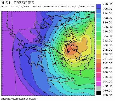 H «μετεωρολογική βόμβα» της 22ας Ιανουαρίου 2004