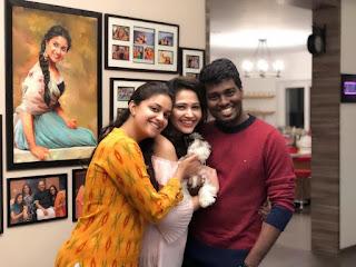 Keerthy Suresh with Cute Smile with Priya Atlee and Atlee