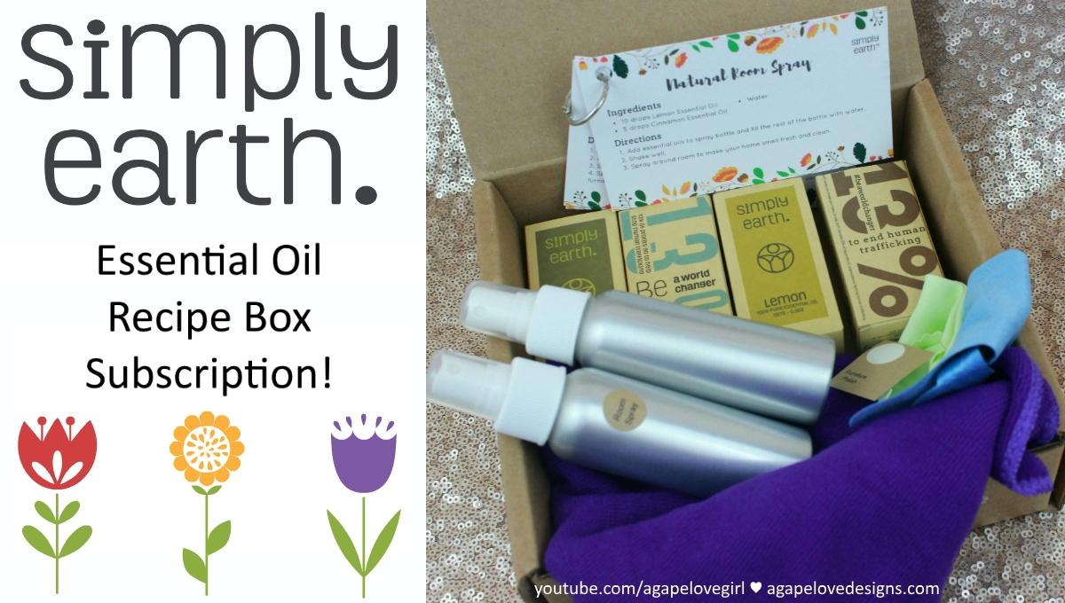 Agape Love Designs: Simply Earth Essential Oil Recipe Box