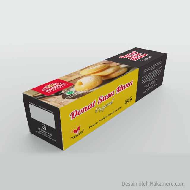 Desain kemasan packaging box donat susu frozen