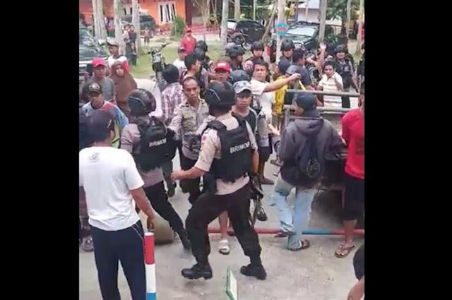 Arogan, Tak Mau Bayar Karcis Wisata, Oknum Brimob Todongkan Pistol