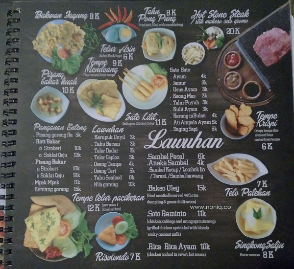 Image result for menu the house of raminten