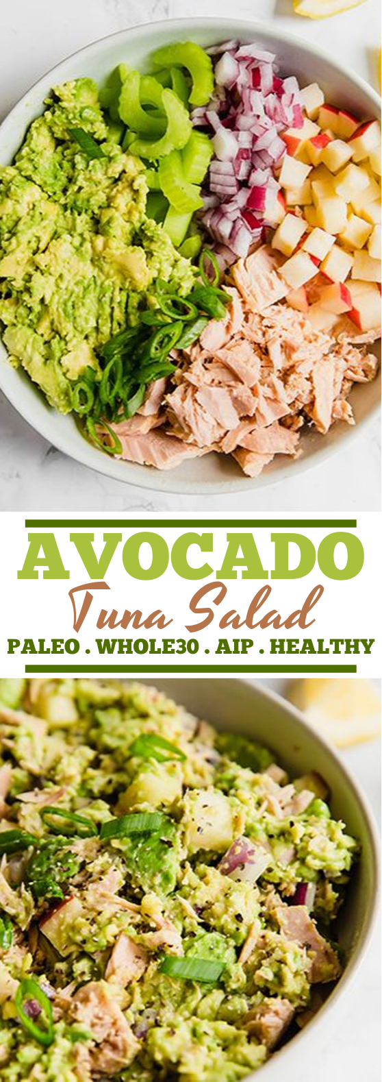 Avocado Tuna Salad #healthy #salad