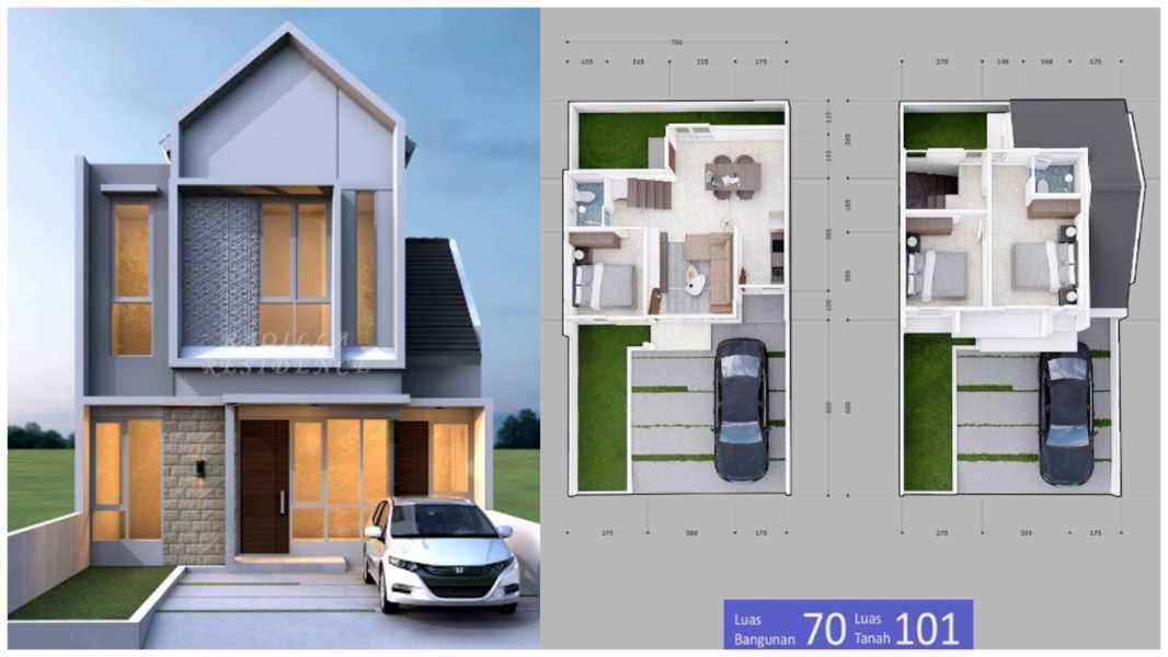 Denah Rumah Type 70 2 Lantai Desain Rumah Minimalis