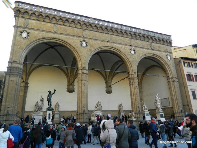 Loggia dei Lanzi, na Piazza della Signoria