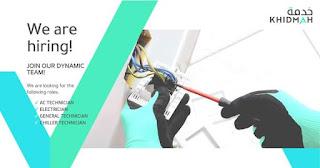 Khidmah LLC Dubai Recruitment For AC Technician, Electrician, General Technician, Chiller Technician, Plumber, Mason, Painter, Carpenter