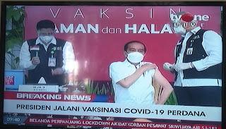 Vaksinasi terhadap pak Jokowi