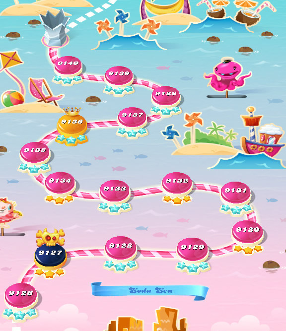 Candy Crush Saga level 9126-9140