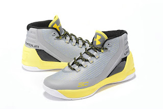 Under Armour Curry 3 Grey yellow Sepatu Basket Premium, harga under armour curry 3 , curry 3 dub nation, ander armor, replika, premium, import