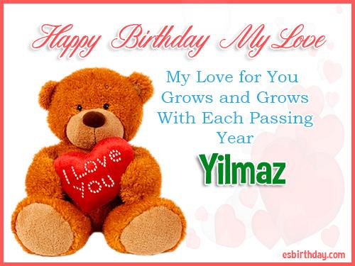 Yilmaz Happy Birthday My Love