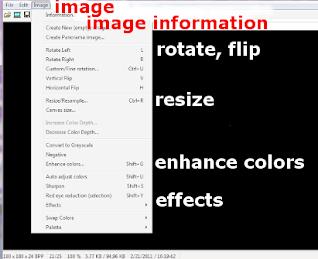image editing tools on Irfanview